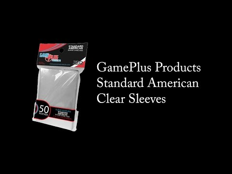 GamePlus Products - Standard American Clear Sleeves