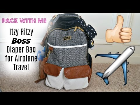 Pack With Me   Itzy Ritzy Boss Diaper Bag for Airplane Travel   The Sensible Mama