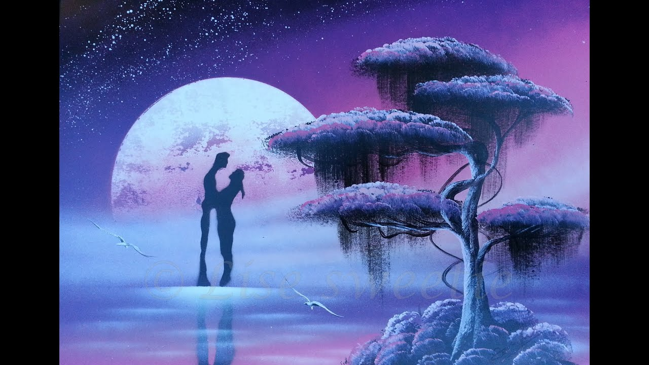 spray paint art - Romantic painting - YouTube