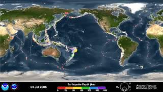 terremoto adesso- Lista di terremoti avvenuti negli ultimi 15, il video della NOAA