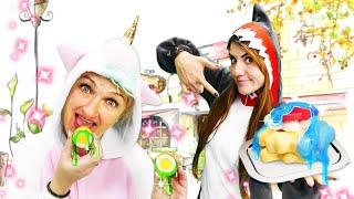 Видео приколы онлайн - Вкусняшки для Милой Единорожки и Акулы! - Смешные игры одевалки