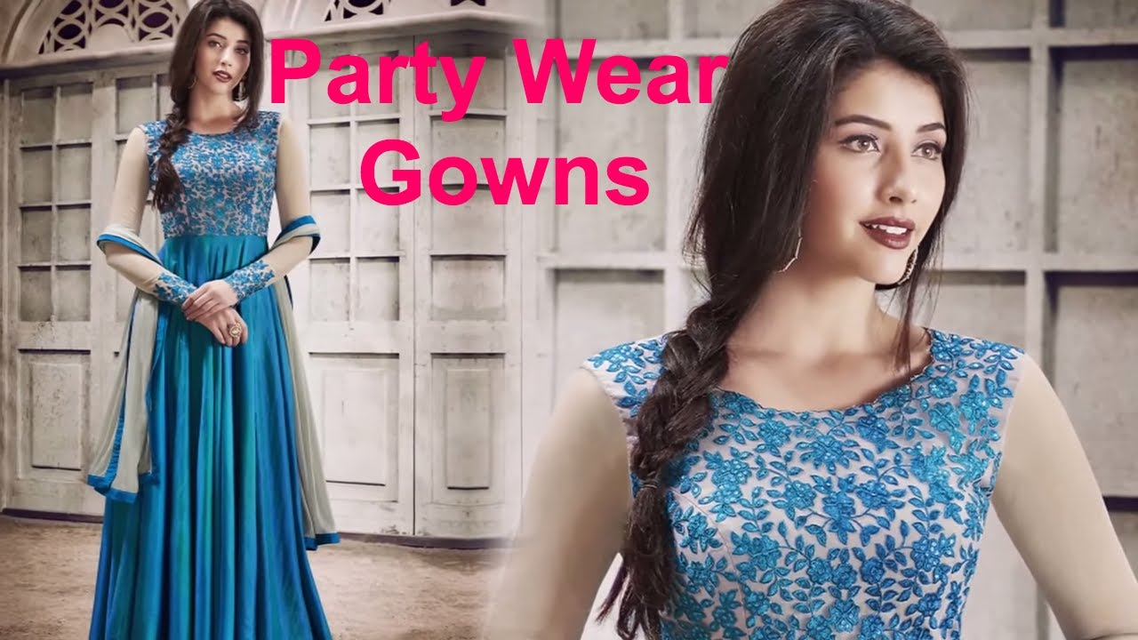 5d33f7fc327 Party Wear Gown Dress   Long Sleeved Designer Gowns for Wedding    Engagement Online India Low Price. Designers And You