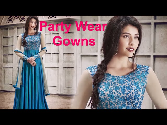 811aa3c328c Indian Gowns Online  Designer Indo Western Gown   Long Evening Party Wear