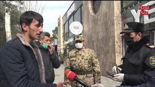 """""""Onsuz da borcun içindəyik"""" - Polis küçəyə çıxanları cərimələyir, insanlar etiraz edir"""