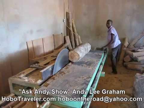 Teak Sawmill in Tsvevie Togo West Africa Custom, but No Kiln Work