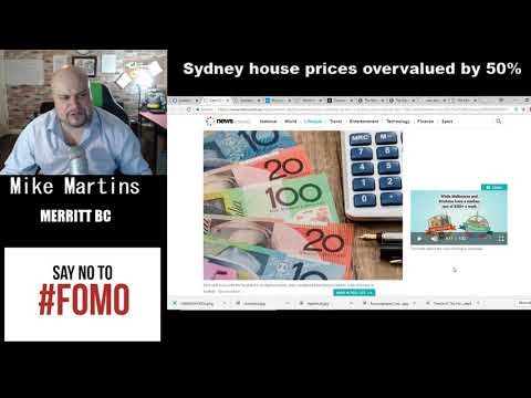 Sydney House Prices Overvalued By 50%