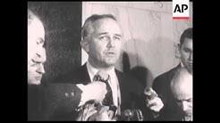 CAN933 SHAW ARRESTED, JIM GARRISON SPEAKS ABOUT JFK MURDER CASE