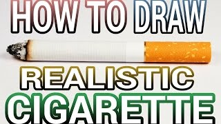 how to draw a 3d cigarette