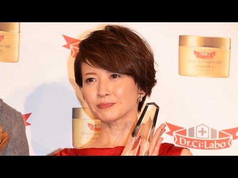 三浦理恵子、再婚後初公の場で笑顔「とても居心地いい」 ドクターシーラボ『第2回ベストハリ肌ニスト』授賞式