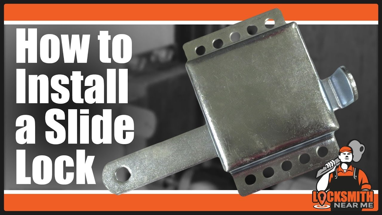 How To Install A Garage Door Slide Lock Locksmith Near
