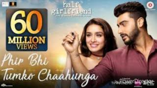 Ma phir bhi tumko chahuga karaoke lyrics by arjit sing fullHD 1