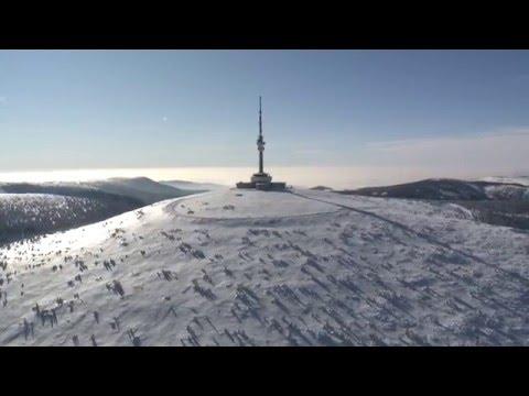 Praděd z výšky - v zimě