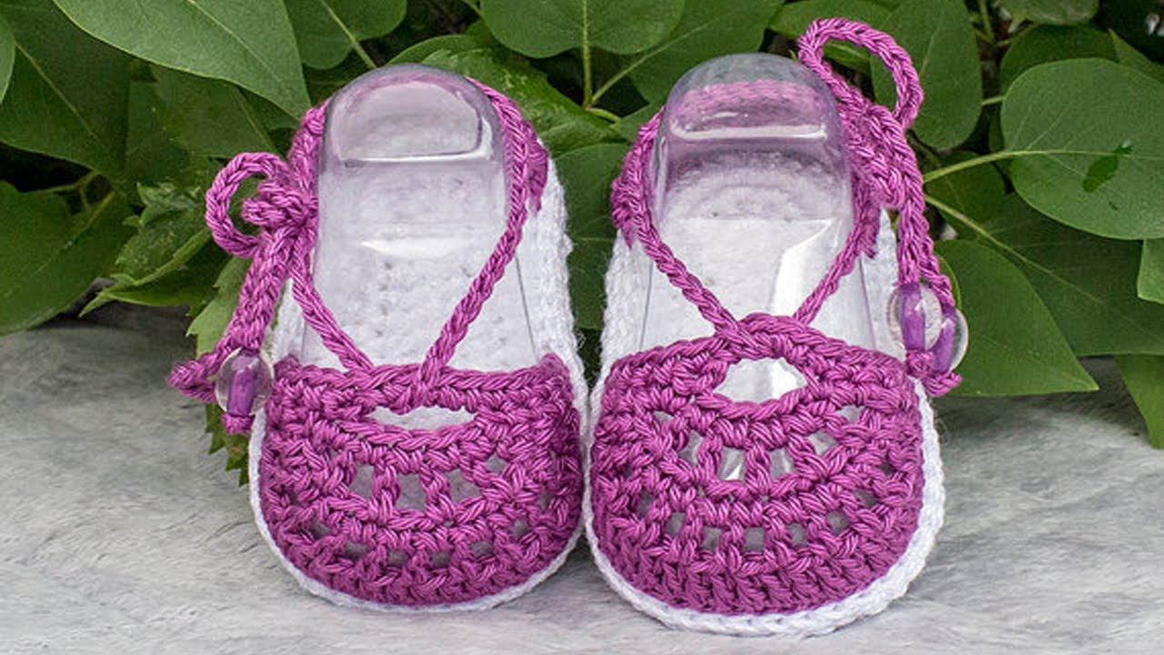 Crochet Baby Sandals Free Pattern - YouTube
