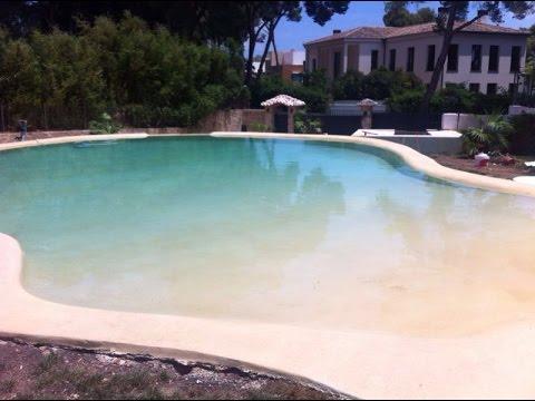 Como hacer una piscinas de arena con sistema de resina for Como hacer una piscina