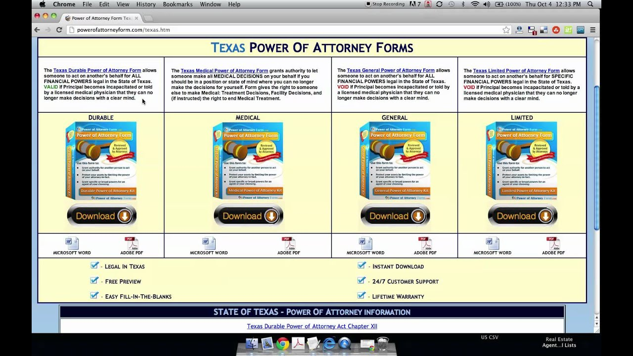 Power of attorney form texas youtube falaconquin