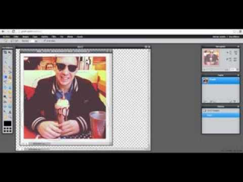 how to make a youtube logo with pixlr