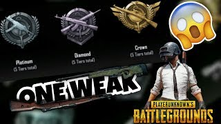 HOW TO RANK UP GOLD TO CROWN IN PUBG MOBILE(one weak)