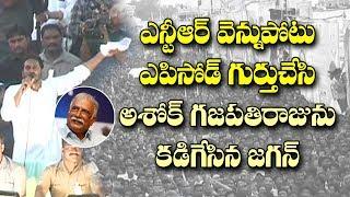 ఎన్టీఆర్ వెన్నుపోటు ఎపిసోడ్ లో ఆ మంత్రి పాత్ర చెప్పిన జగన్| YS Jagan Slams MP Ashok Gajapathi Raju