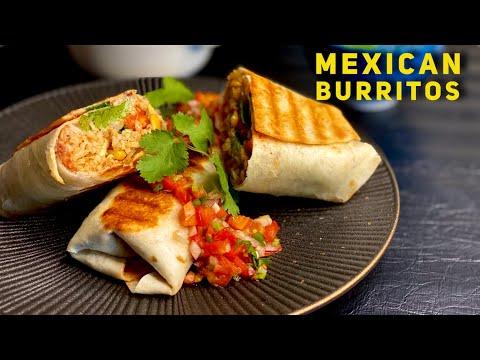 Mexican Veg Burritos Recipe | How To Make Burrito | Homemade Burritos Recipe
