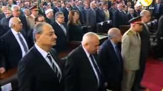 شاهد.. السيسي يستهل خطابه أمام القضاة بدقيقة حداد على أرواح الشهداء