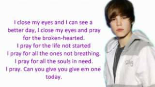 Justin Bieber - Pray [Instrumental with lyrics]