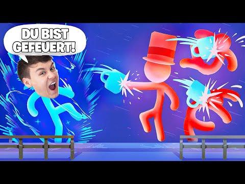 DU BIST GEFEUER!! Roman VERPÜGELT den BOSS!? - Stick It to the Stick Man