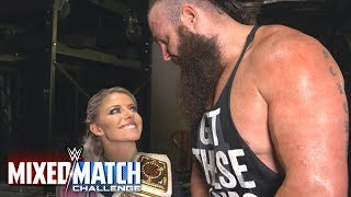 Braun Strowman attempts to kiss Alexa Bliss on WWE MMC