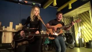 Александра Разумная, Алексей Иванов, бесплатный урок по гитаре в баре Лебовский в Обнинске