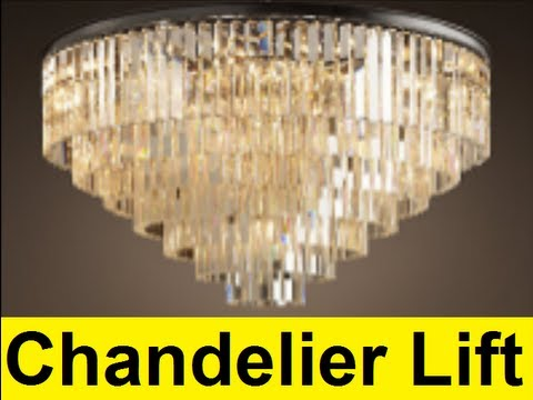 How To Make a Chandelier Lift  YouTube