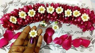 Version- 2 🌹 Petals with Jasmine Jadai venni making