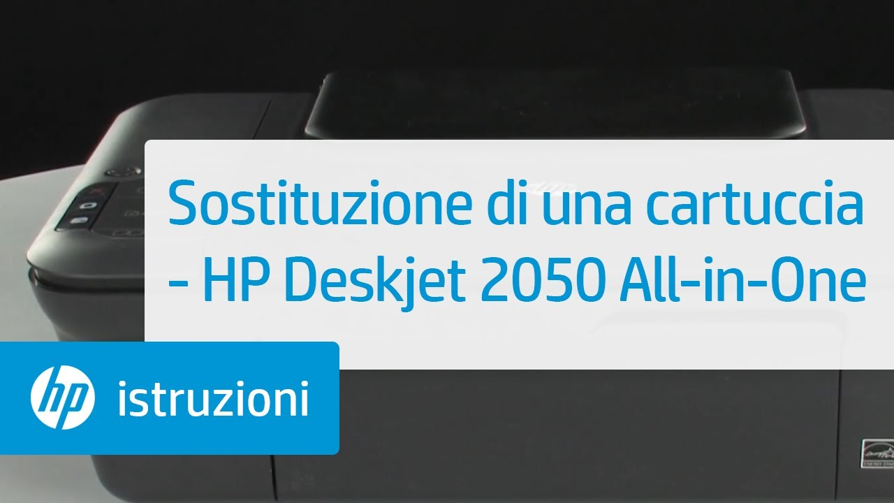 sostituzione di una cartuccia hp deskjet 2050 all in one youtube. Black Bedroom Furniture Sets. Home Design Ideas