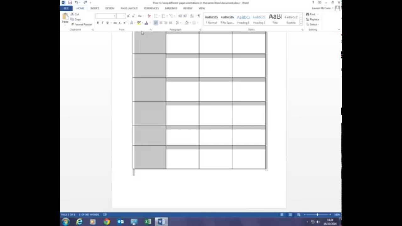 How can I have portrait and landscape pages in the same Word document? - YouTube