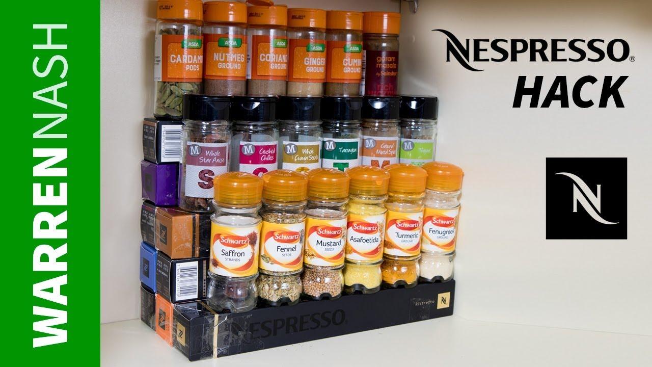 Nespressohack Cardboard Spice Rack Easy Diy By Warren Nash