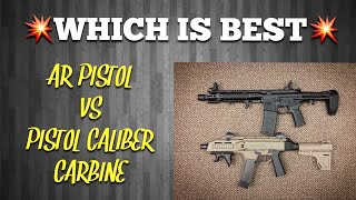 Which Is Best Ar15 Pistol Vs Pistol Caliber Carbine Youtube