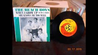 The Beach Boys When I Grow Up (To Be A Man) 45 rpm mono mix