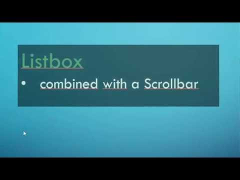 python tkinter how to set scroll bar in combobox