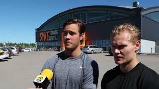 Haastattelussa SaiPan puolustajat Erik Autio ja Veeti Vainio