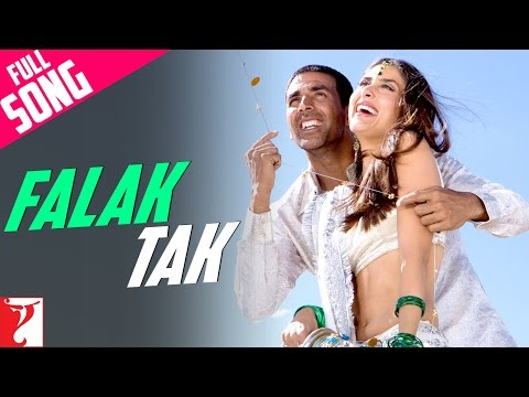 Falak Tak -  Full Song | Tashan | Akshay Kumar | Kareena Kapoor | Udit Narayan: ► Subscribe Now: https://goo.gl/xs3mrY 🔔 Stay updated!  Watch Full Movie: ► Google Play - http://bit.ly/2fQqnID ► iTunes - https://goo.gl/S709be  🎧 Song Credits: Song: Falak Tak Singers: Udit Narayan, Mahalaxmi Iyer Music: Vishal and Shekhar Lyrics: Kausar Munir  Stay in the filmy loop: ► Like us on Facebook: https://facebook.com/yrf ► Follow us on Twitter: https://twitter.com/yrf ► Follow us on Instagram: http://instagram.com/yrf  🎬 Movie Credits: Starring: Akshay Kumar, Saif Ali Khan, Kareena Kapoor & Anil Kapoor Music: Vishal and Shekhar Lyrics: Piyush Mishra, Vishal, Anvita Dutt Guptan, Kausar Munir Producer: Aditya Chopra Story, Director: Vijay Krishna Acharya Release Date: 25 April 2008  Synopsis: What happens when you throw two guys who hate each other together...  A cool call center executive Jimmy Cliff (Saif Ali Khan), a desi wannabe gangster Bachchan Pande (Akshay Kumar) add for good measure a beautiful girl Pooja (Kareena Kapoor) who cant be trusted... on a journey across spectacular India... a journey which will alter the course of their lives in more ways than one... a journey where even enemies need to trust each other if they want to stay alive...  Trouble is, in this world no one can be trusted ever!  And to top it all there is the evil eye of Bhaiyyaji (Anil Kapoor - Slumdog Millionaire & 24)... a maverick gangster who enjoys killing people as much as he enjoys learning to speak English...