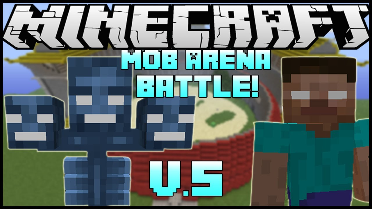 Quot Wither Boss Vs Herobrine Quot Minecraft Mob Battle Arena