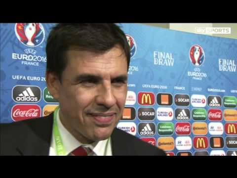 EURO 2016 Draw - Post Draw Interview - Chris Coleman (12/12/15)