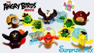 Энгри Бёрдс В Кино Angry Birds Movie - игрушки Happy Meal Макдоналдс - Запускаем Птичек в Свиней
