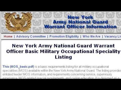 New York National Guard Warrant Officer Requirements