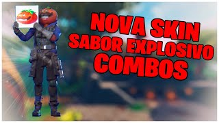 SHOWING THE * NEW * SKIN EXPLOSIVE FLAVOR & COMBOS | FORTNITE