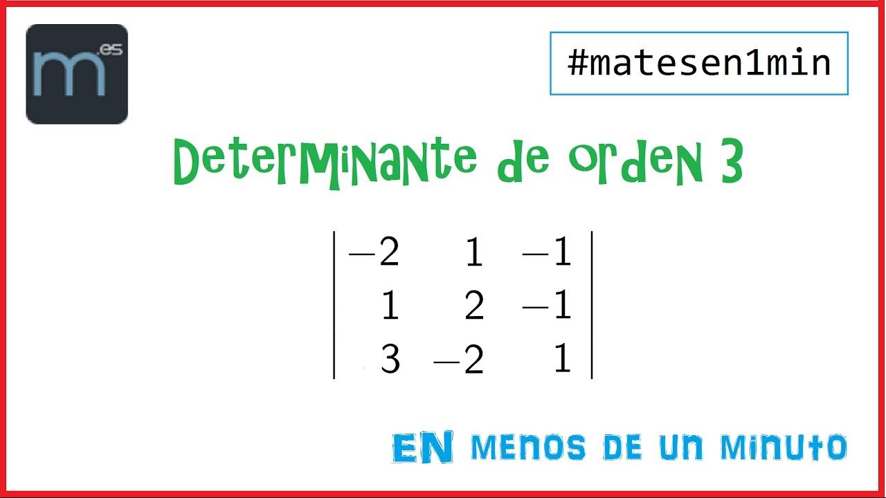 Determinantes de orden 3 - #matesen1min