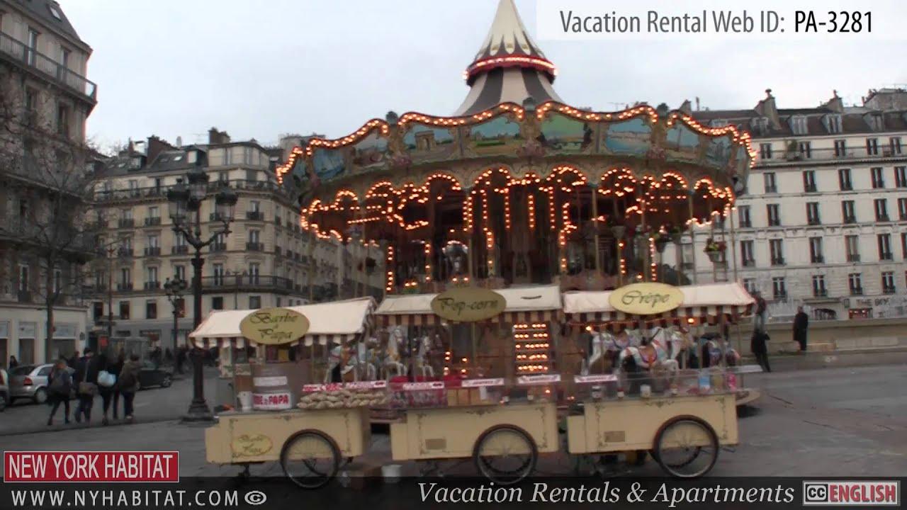 paris france video tour of a vacation rental in le marais rue