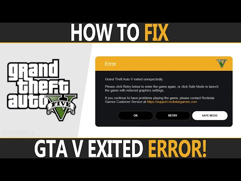 How To FIX GTA V Exited Unexpectedly