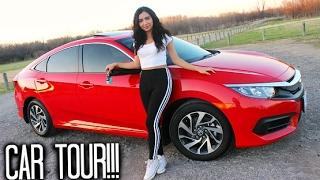 MY FIRST CAR TOUR!!! 2017 Honda Civic EX