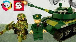 Китайский Лего Танк и 2 военные Минифигурки SY245