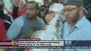 Blackhawks And Their Fans Keep Stanley Cup Party Going Well Into The Morning