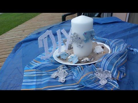 Keka: DIY MARITIME DEKO Fische Häkeln; Kerzen Deko,Tisch DEKO Selber Machen